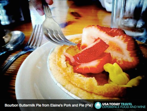 Elaine's Bourbon Buttermilk Pie